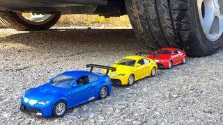 Crushing Crunchy & Soft Things by Car! EXPERIMENT CAR VS MINI METAL CARS