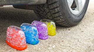 Crushing Crunchy & Soft Things by Car! EXPERIMENT CAR vs ORBEEZ