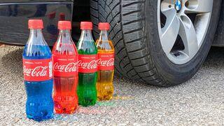 Crushing Crunchy & Soft Things by Car! EXPERIMENT CAR vs RAINBOW COCA COLA