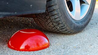 Crushing Crunchy & Soft Things by Car! EXPERIMENT Car vs RED JELLY