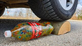 Crushing Crunchy & Soft Things by Car! EXPERIMENT CAR vs COCA COLA ORBEEZ