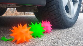 Crushing Crunchy & Soft Things by Car! EXPERIMENT CAR vs SPIKE SLIME