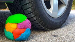 Crushing Crunchy & Soft Things by Car! EXPERIMENT CAR VS PLAY DOH BALL