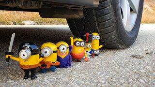 Crushing Crunchy & Soft Things by Car! EXPERIMENT CAR VS MINIONS