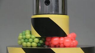 EXPERIMENT HYDRAULIC PRESS 100 TON vs two Anti Stress Balls
