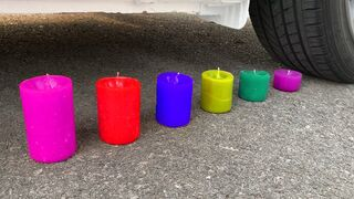 Experiment Car vs Jelly Candle, Fanta, Pepsi Balloons | Crushing Crunchy & Soft Things by Car | ASMR