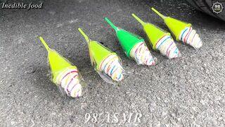 Experiment Car vs Jelly, Cola Fanta, Mirinda Balloons | Crushing Crunchy & Soft Things by Car | ASMR