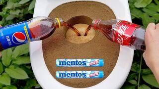 Coca Cola, Different Fanta, Mtn Dew, Pepsi,Sprite and Big toilet vs Mentos in Big Underground