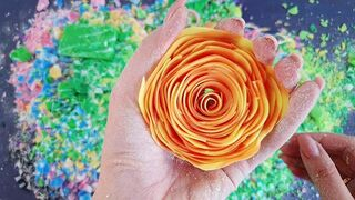 Very satisfying video ! Soap cubes and crushing soap roses