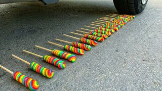 Crushing Crunchy & Soft Things by Car! - EXPERIMENT: CANDY VS CAR