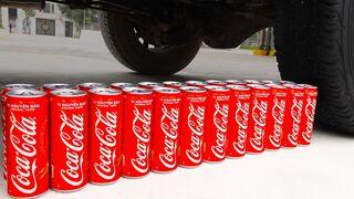 Aplastando Cosas Crujientes y Suaves! CoCa Cola VS Rueda de Coche
