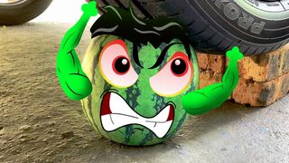 Crushing Crunchy & Soft Things by Car | Experiment Car vs Hulk, Watermelon, Jelly | Woa Doodland