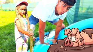 Vasena and Daddy New Story For Kids About Dirty Pool