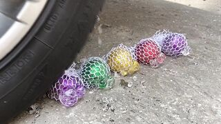 Experiment : Car vs Orbeez in Color Balloons | Crushing Crunchy & Soft Things by Car | Antistress