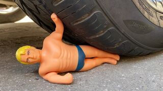 Crushing Crunchy & Soft Things by Car! EXPERIMENT : CAR vs Stretch Armstrong