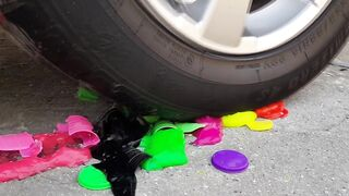Crushing Crunchy & Soft Things by Car! EXPERIMENTS - Car vs slime