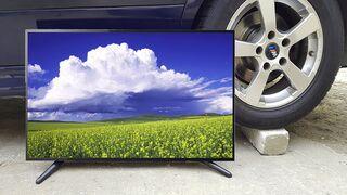 EXPERIMENT : CAR VS TV Crushing Crunchy & Soft Things by Car!