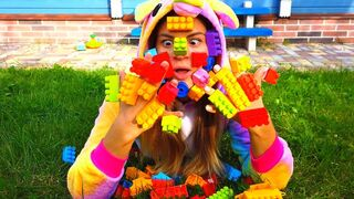 Vasena playing with lego | lego hands + More Nursery