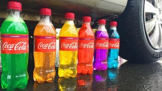 Experiment Car vs Coca Cola, Fanta, Rainbow Balloons | Crushing Crunchy & Soft Things by Car
