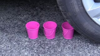 Crushing Crunchy & Soft Things by Car!- Experiment Car vs Slime & Toys