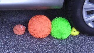 Crushing Crunchy & Soft Things by Car! - EXPERIMENT: SLIME vs CAR vs FOOD