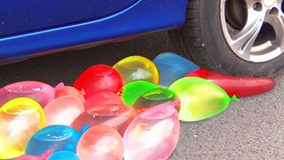 Crushing Crunchy & Soft Things by Car! - EXPERIMENT: WATER BALLOON VS CAR