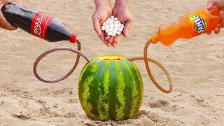 Experiment: Coca-Cola and Fanta vs Watermelon