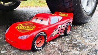 Experiment: Car vs Lightning McQueen - Crushing Crunchy & Soft Things by Car!