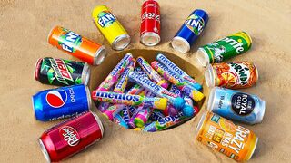 Experiment: Different Fanta, Pepsi, Mtn Dew, Coca-Cola, Royal Club vs Mentos Underground