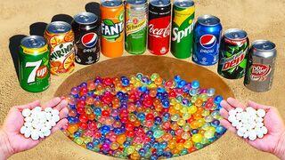 Experiment ! Coca Cola, Mtn Dew, Fanta, Mirinda, Sprite, Pepsi vs Orbeeze vs Mentos Underground