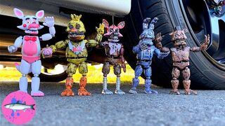 CAR vs Five Nights At Freddy's FNAF Experiment   Crushing Crunchy and Soft Things By Car! (CCASTBC)
