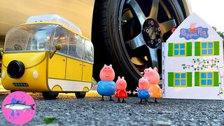 CAR vs PEPPA PIG Experiment | Crushing Crunchy and Soft Things By Car! (CCASTBC)