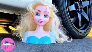CAR vs FROZEN TOYS | Elsa and Anna Let It Go | Crushing Crunchy and Soft Things By Car! (CCASTBC)