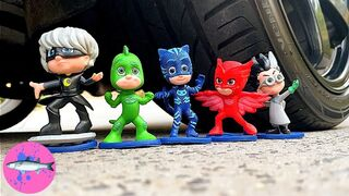 Experiment: CAR vs PJ MASK TOYS | Crushing Crunchy And Soft Things By Car