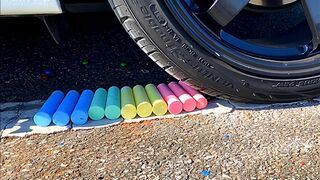 EXPERIMENT: Car vs Crayola (DESTROYED) | SLO MO | Crushing Crunchy & Soft Things by Car