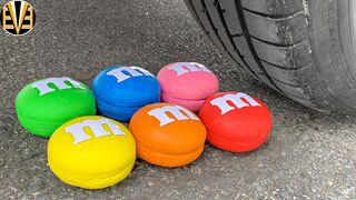 Experiment Car vs Fanta, M&M Candy, Color Clay | Crushing Crunchy & Soft Things by Car | EvE