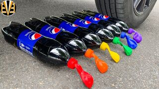 Experiment Car vs Small Balloons vs Pepsi | Crushing Crunchy & Soft Things by Car | EvE