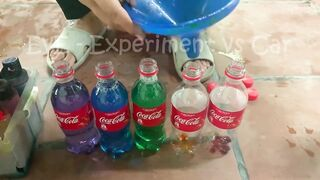 Experiment Car vs Long Balloon With Cola, M&M Candy | Crushing Crunchy & Soft Things by Car | EvE