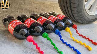 Experiment Car vs Coca Cola vs Rainbow Balloons | Crushing Crunchy & Soft Things by Car | EvE