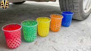 Experiment Car vs Rainbow Orbeez, Pepsi | Crushing Crunchy & Soft Things by Car | EvE
