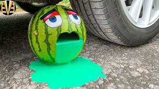 Experiment Car vs Cry Watermelon, Rainbow Balloons | Crushing Crunchy & Soft Things by Car | EvE
