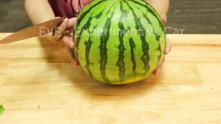 Experiment Car vs Cry Watermelon, Rainbow Balloons   Crushing Crunchy & Soft Things by Car   EvE