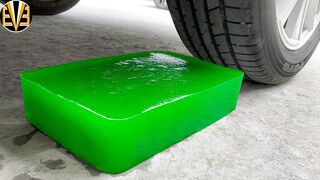 Experiment Car vs Green Big Jelly | Crushing Crunchy & Soft Things by Car | EvE