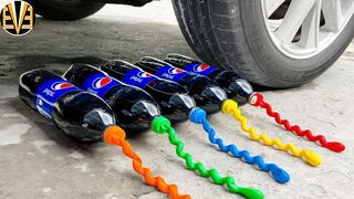 Experiment Car vs Balloons and Pepsi | Crushing Crunchy & Soft Things by Car | EvE