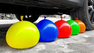 Experiment Car vs Rainbow Skittles VS Watermelon | Crushing Crunchy & Soft Things by Car | EvE