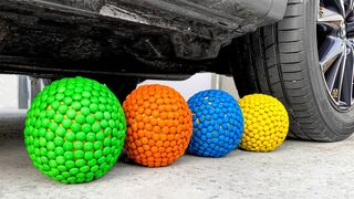 Experiment Car vs Rainbow M&M Candy | Crushing Crunchy & Soft Things by Car | EvE