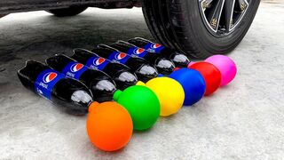 Experiment Car vs Coca Cola and Balloons   Crushing Crunchy & Soft Things by Car   EvE