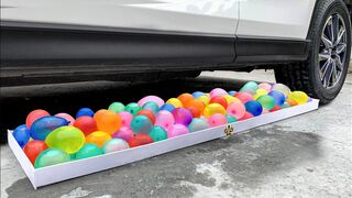 Experiment Car vs Water in Color Balloons | Crushing Crunchy & Soft Things by Car!