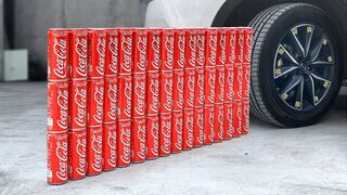 Experiment Car vs Coca Cola | Crushing Crunchy & Soft Things by Car | EvE