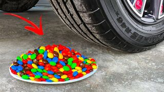 Experiment Car vs Skittles | Crushing Crunchy & Soft Things by Car | EvE